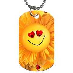 Smiley Joy Heart Love Smile Dog Tag (two Sides) by Nexatart