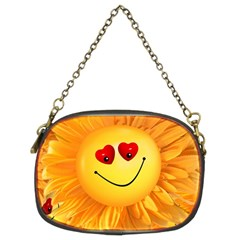 Smiley Joy Heart Love Smile Chain Purses (two Sides)  by Nexatart