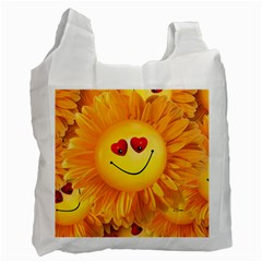 Smiley Joy Heart Love Smile Recycle Bag (one Side) by Nexatart