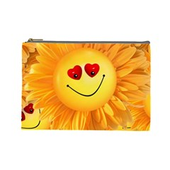 Smiley Joy Heart Love Smile Cosmetic Bag (large)  by Nexatart