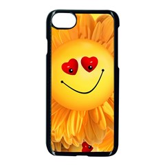 Smiley Joy Heart Love Smile Apple Iphone 7 Seamless Case (black) by Nexatart