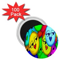 Smiley Girl Lesbian Community 1 75  Magnets (100 Pack)  by Nexatart