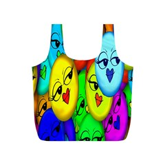 Smiley Girl Lesbian Community Full Print Recycle Bags (s)  by Nexatart