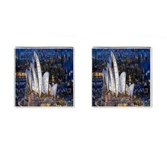Sidney Travel Wallpaper Cufflinks (square) by Nexatart
