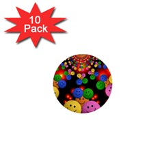 Smiley Laugh Funny Cheerful 1  Mini Buttons (10 Pack)