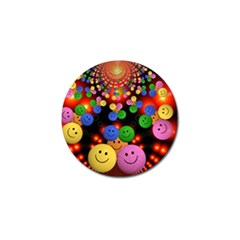 Smiley Laugh Funny Cheerful Golf Ball Marker (4 Pack) by Nexatart