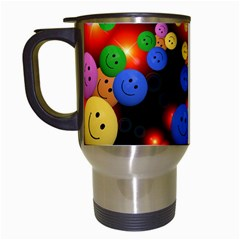 Smiley Laugh Funny Cheerful Travel Mugs (white) by Nexatart