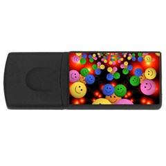 Smiley Laugh Funny Cheerful Usb Flash Drive Rectangular (4 Gb)