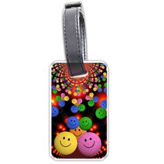 Smiley Laugh Funny Cheerful Luggage Tags (one Side)  by Nexatart