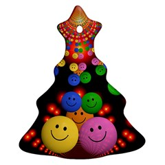 Smiley Laugh Funny Cheerful Christmas Tree Ornament (two Sides) by Nexatart