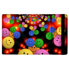 Smiley Laugh Funny Cheerful Apple Ipad 3/4 Flip Case by Nexatart