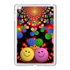 Smiley Laugh Funny Cheerful Apple Ipad Mini Case (white) by Nexatart