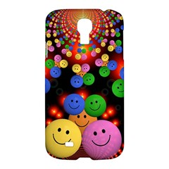 Smiley Laugh Funny Cheerful Samsung Galaxy S4 I9500/i9505 Hardshell Case by Nexatart