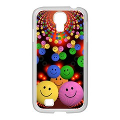 Smiley Laugh Funny Cheerful Samsung Galaxy S4 I9500/ I9505 Case (white) by Nexatart