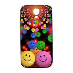 Smiley Laugh Funny Cheerful Samsung Galaxy S4 I9500/i9505  Hardshell Back Case by Nexatart