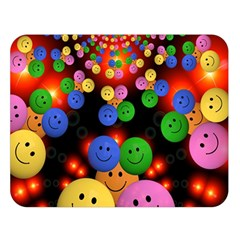 Smiley Laugh Funny Cheerful Double Sided Flano Blanket (large)  by Nexatart