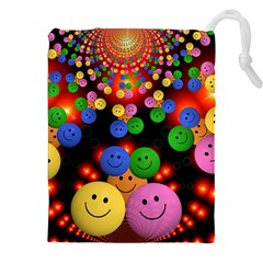 Smiley Laugh Funny Cheerful Drawstring Pouches (xxl) by Nexatart
