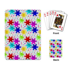 Snowflake Pattern Repeated Playing Card by Nexatart