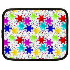 Snowflake Pattern Repeated Netbook Case (xxl)