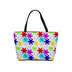 Snowflake Pattern Repeated Shoulder Handbags by Nexatart