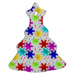 Snowflake Pattern Repeated Ornament (christmas Tree)