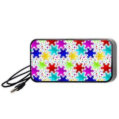 Snowflake Pattern Repeated Portable Speaker (black) by Nexatart