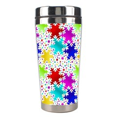 Snowflake Pattern Repeated Stainless Steel Travel Tumblers by Nexatart