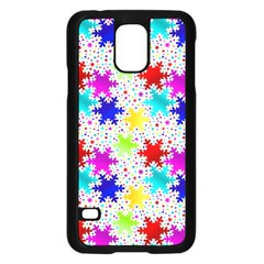 Snowflake Pattern Repeated Samsung Galaxy S5 Case (black) by Nexatart
