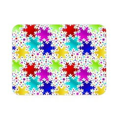 Snowflake Pattern Repeated Double Sided Flano Blanket (mini)  by Nexatart