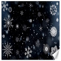 Snowflake Snow Snowing Winter Cold Canvas 16  X 16   by Nexatart