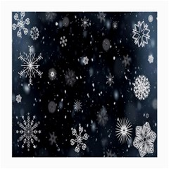 Snowflake Snow Snowing Winter Cold Medium Glasses Cloth by Nexatart