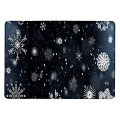 Snowflake Snow Snowing Winter Cold Samsung Galaxy Tab 10 1  P7500 Flip Case by Nexatart