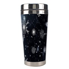 Snowflake Snow Snowing Winter Cold Stainless Steel Travel Tumblers by Nexatart