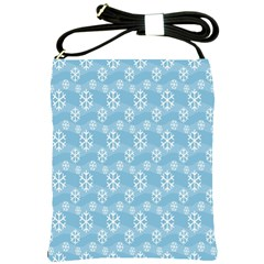 Snowflakes Winter Christmas Shoulder Sling Bags by Nexatart
