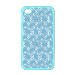 Snowflakes Winter Christmas Apple Iphone 4 Case (color) by Nexatart
