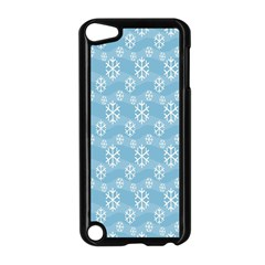 Snowflakes Winter Christmas Apple Ipod Touch 5 Case (black) by Nexatart