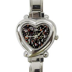 Spiders Colorful Heart Italian Charm Watch