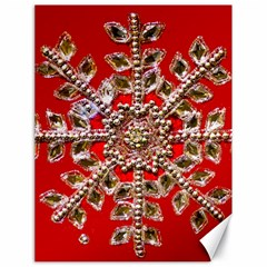 Snowflake Jeweled Canvas 18  X 24