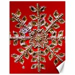 Snowflake Jeweled Canvas 18  x 24   24 x18 Canvas - 1