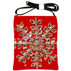 Snowflake Jeweled Shoulder Sling Bags by Nexatart