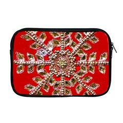 Snowflake Jeweled Apple Macbook Pro 17  Zipper Case by Nexatart