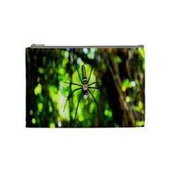 Spider Spiders Web Spider Web Cosmetic Bag (medium)  by Nexatart