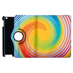 Rainbow Swirl Apple Ipad 3/4 Flip 360 Case by OneStopGiftShop
