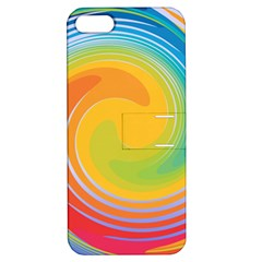 Rainbow Swirl Apple Iphone 5 Hardshell Case With Stand