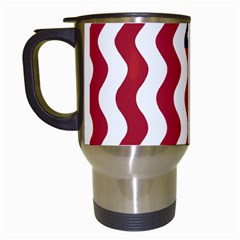 American Flag Travel Mugs (white) by OneStopGiftShop