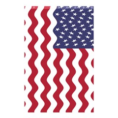 American Flag Shower Curtain 48  X 72  (small)  by OneStopGiftShop
