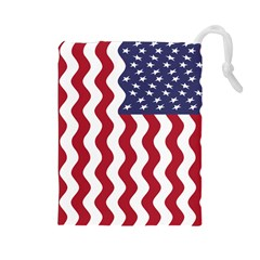 American Flag Drawstring Pouches (large)  by OneStopGiftShop