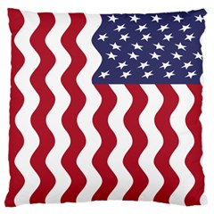 American Flag Large Flano Cushion Case (two Sides) by OneStopGiftShop