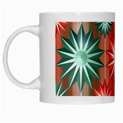 Star Pattern  White Mugs