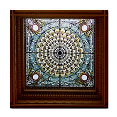 Stained Glass Window Library Of Congress Tile Coasters